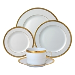 Bernardaud Athena Gold Five Piece Place Setting