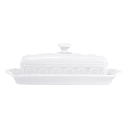 Bernardaud Louvre Covered Butter Dish Rectangular