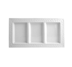 Bernardaud Louvre Three-Compartment Tray