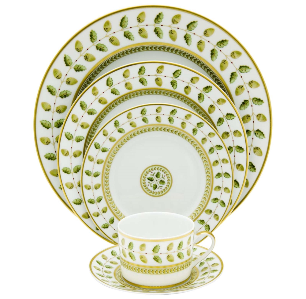 Bernardaud Constance Green 5 Piece Place Setting