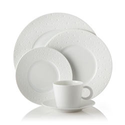 Bernardaud Ecume White Five Piece Place Setting
