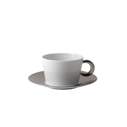 Bernardaud Ecume Platinum Breakfast Cup Only