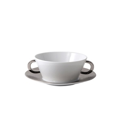 Bernardaud Ecume Platinum Cream Soup Saucer Only