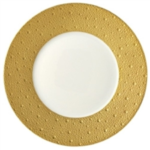 Bernardaud Ecume Gold Dinner Plate