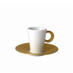 Bernardaud Ecume Gold After Dinner Saucer Only