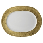 Bernardaud Ecume Gold Oval Platter Small