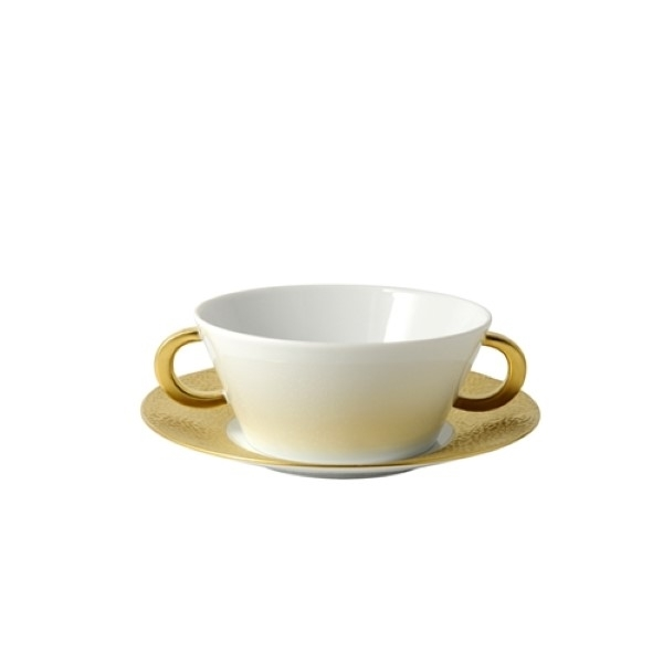 Bernardaud Ecume Gold Cream Soup Saucer Only