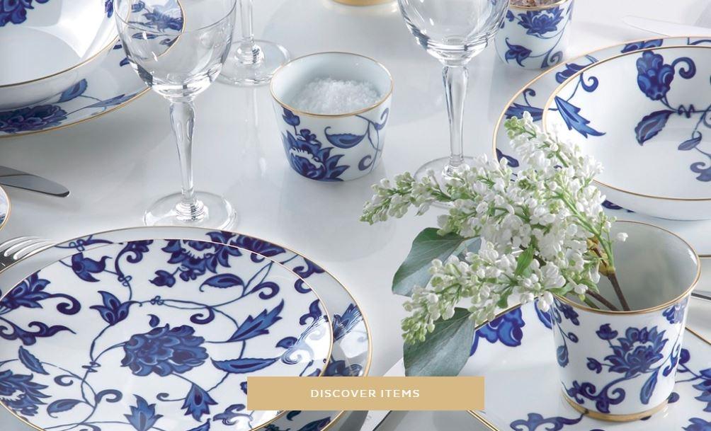 Bernardaud Prince Bleu Coupe Soup Plate - Chelsea Gifts
