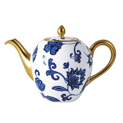 Bernardaud Prince Bleu Tea Pot Boule Shape