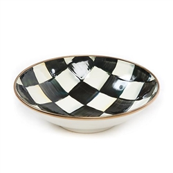 Mackenzie-Childs Courtly Check Enamel Soup Coupe