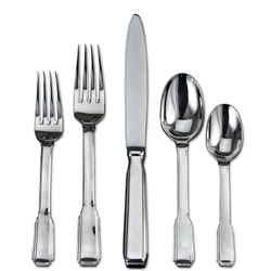 Ricci Argentieri Art Deco 5-Piece Flatware Place Set