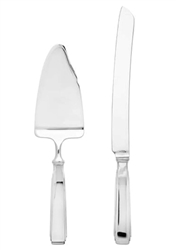 Ricci Argentieri Art Deco 2-Piece Cake Knife And Server
