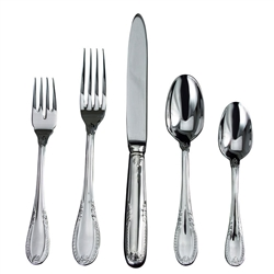 Ricci Argentieri Impero Stainless 5-Piece Flatware Set