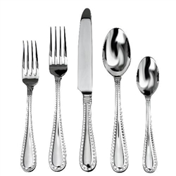 Ricci Rivets Polished Stainless Flatware 5pc. Service for One