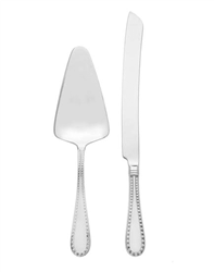 Ricci Rivets Polished Stainless 2pc. Cake Knife & Server