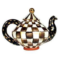 MacKenzie-Childs Courtly Check Teapot