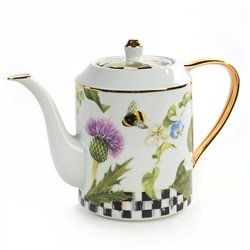 MacKenzie-Childs Thistle & Bee Porcelain Teapot