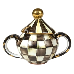 MacKenzie-Childs Courtly Check Lidded Sugar Bowl