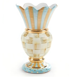 MacKenzie-Childs Parchment Check Great Vase