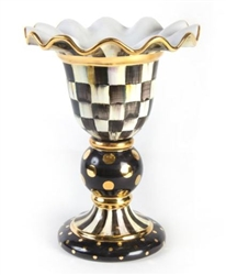 MacKenzie-Childs Courtly Check Stately Vase