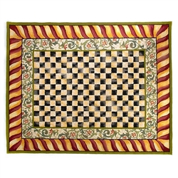 Mackenzie-Childs Courtly Check Rug - Red & Gold - 8 ft.  x 10 ft.