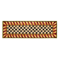Mackenzie-Childs Courtly Check Rug - Red & Gold - 2 ft. 6 in. x 8 ft.