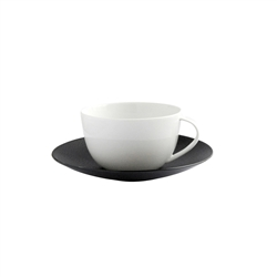 Bernardaud Bulle Tea Saucer Only Black Sable