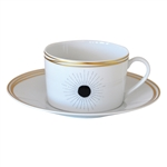 Bernardaud Aboro Breakfast Cup & Saucer -Set-2