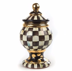 MacKenzie-Childs Courtly Check Globe Canister