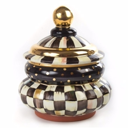 MacKenzie-Childs Courtly Check Groovy Canister