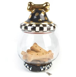 MacKenzie-Childs Courtly Check Canine Cookie Jar