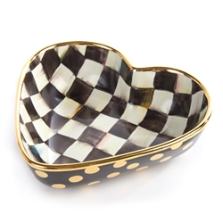 MacKenzie-Childs Courtly Check Heart Bowl Large