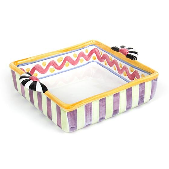 MacKenzie-Childs Piccadilly 8 in. Square Baking Dish