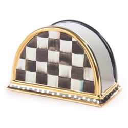 MacKenzie-Childs Courtly Check Ceramic Napkin Holder