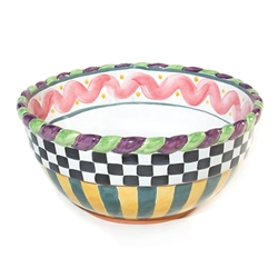 MacKenzie-Childs Large Piccadilly Mixing Bowl