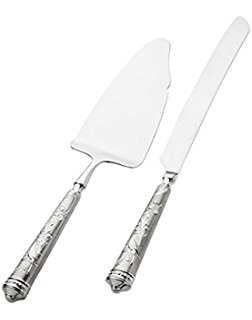 Ricci Argentieri Audubon's Bird Of Paradise Cake Knife And Server