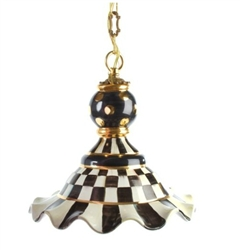 Mackenzie-Childs Courtly Check Pendant Lamp Medium
