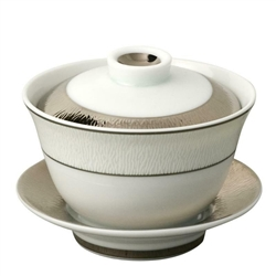 Bernardaud Dune Small Covered Cup & Saucer