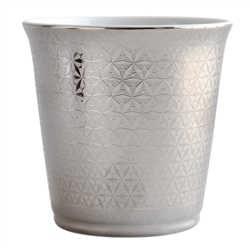 Bernardaud Limoges Divine Tumbler with Almond Scented Candle