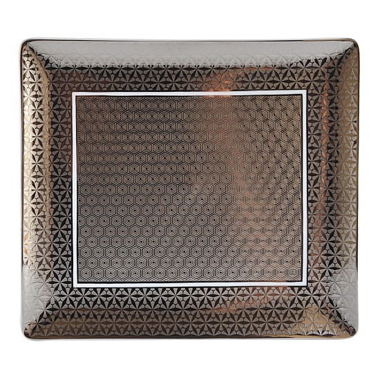 Bernardaud Limoges Divine Platinum Rectangular Tray