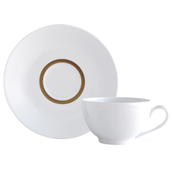 Bernardaud Limoges Cronos Gold Tea Saucer Boule Shape