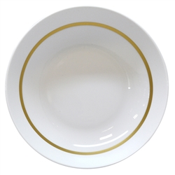 Bernardaud Limoges Cronos Gold Coupe Soup Plate
