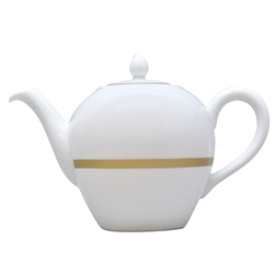 Bernardaud Limoges Cronos Gold Tea Pot Boule Shape