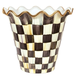 Mackenzie-Childs Jumbo Flower Pot Courtly Check