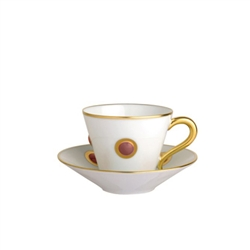 Bernardaud Ithaque Gold Moroccan Red Saucer Only