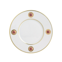 Bernardaud Ithaque Gold Moroccan Red Salad Plate