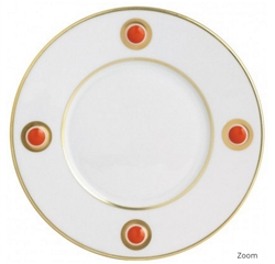 Bernardaud Ithaque Gold Orange Salad Plate