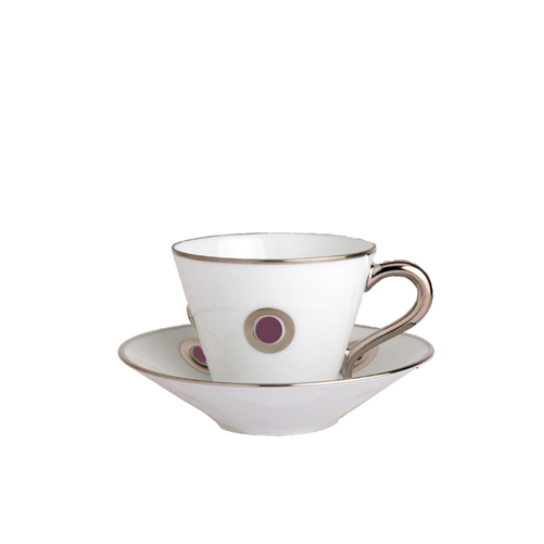 Bernardaud Ithaque Platinum Plum Saucer Only