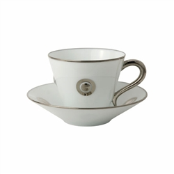 Bernardaud Ithaque Platinum Tea Cup Only