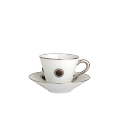 Bernardaud Ithaque Platinum Matte Brown Saucer Only